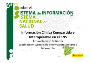 Información Clínica Compartida e Interoperable en el SNS