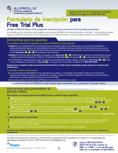 Formulario de inscripción para Free Trial Plus
