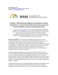 A4AI Affordability Report Press Release_SPANISH
