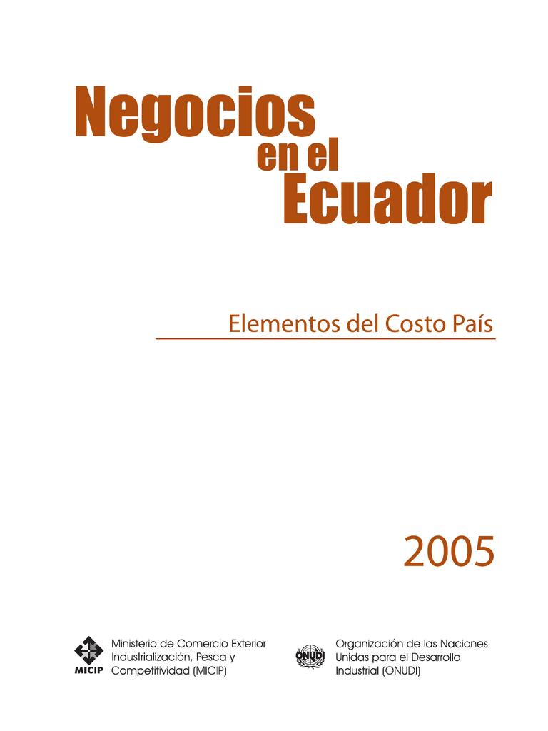 Negocios en el Ecuador