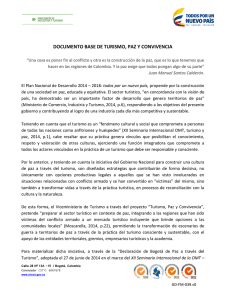 documento base de turismo, paz y convivencia