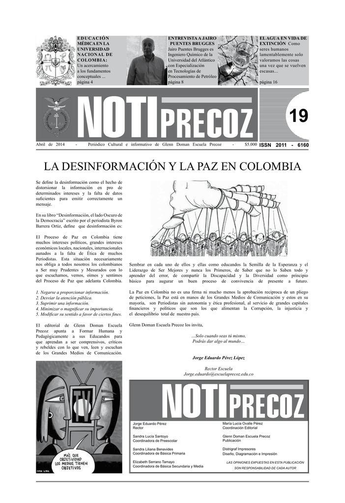 LA DEsInformACIón y LA PAz En CoLomBIA
