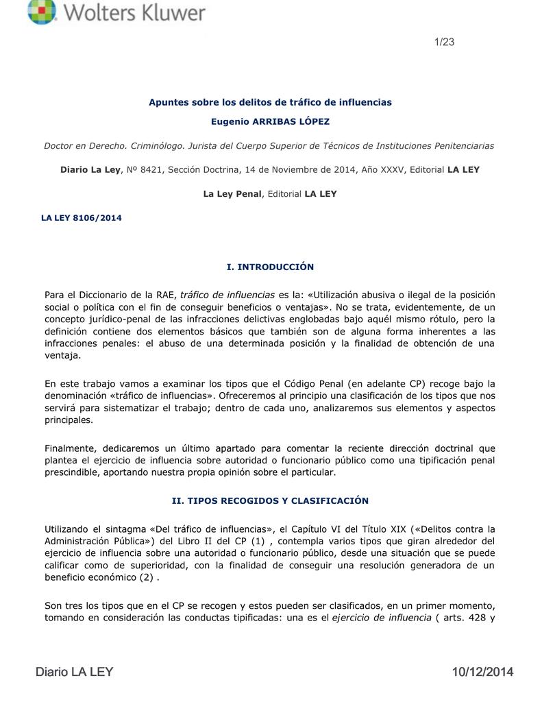 Diario La Ley Núm 8421 Sección Doctrina