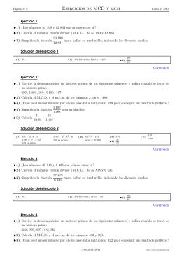 TEMA 5 Números primos y compuestos Descomposición factorial