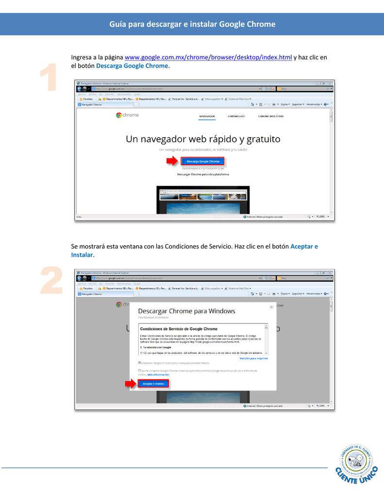 Guía para descargar e instalar Google Chrome