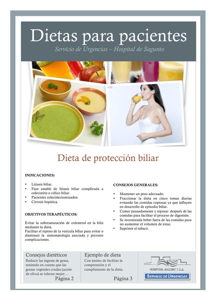 dieta para evitar colico biliar