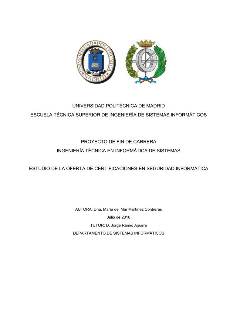 Estudio de la Oferta de Certificaciones en Seguridad Informática