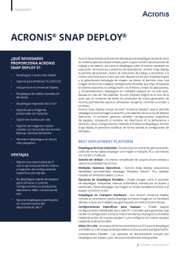 ACRONIS® SNAP DEPLOY®