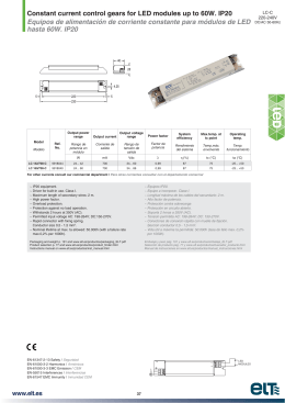 For LED modules up to 60W