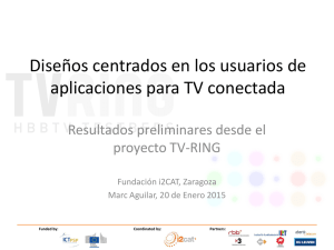 Diseño apps interactivas para TV conectada – user centered design