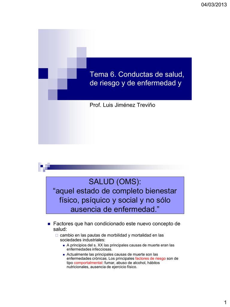 factores de riesgo salud enfermedad
