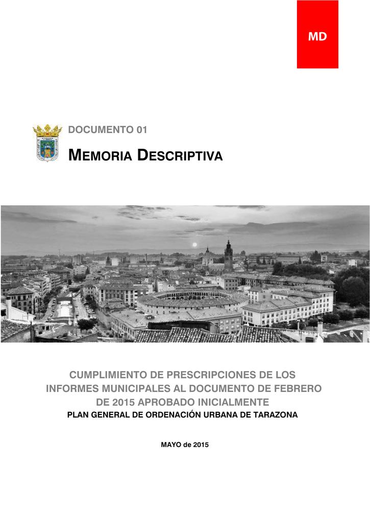 Memoria descriptiva - Ayuntamiento de Tarazona