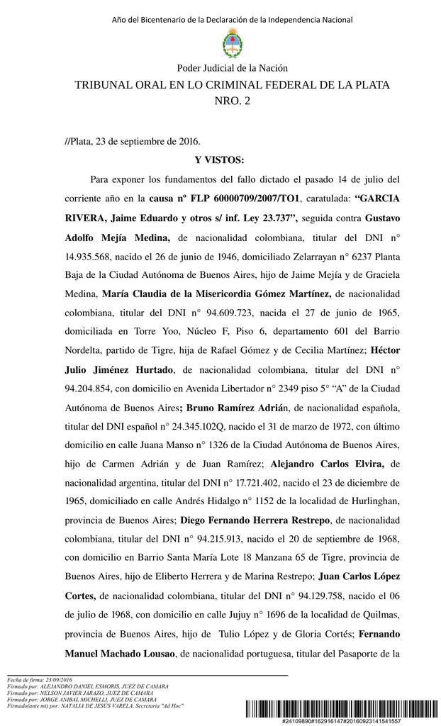 tribunal oral en lo criminal federal de la plata nro. 2