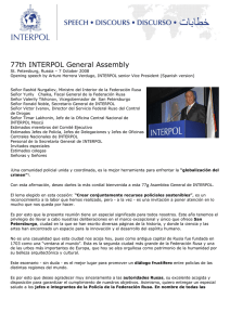 Speech : 77th INTERPOL General Assembly