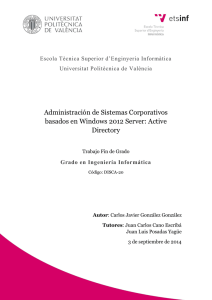 Administración de Sistemas Corporativos basados en Windows