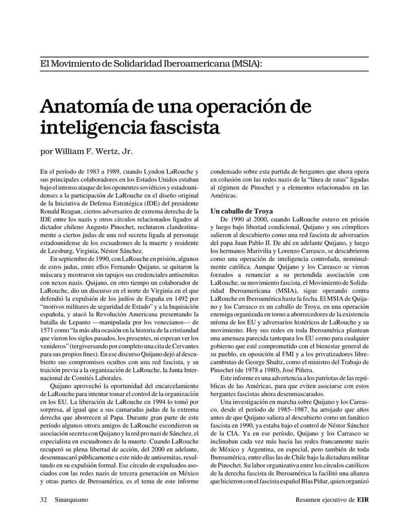32 Anatomía de una operación de inteligencia fascista por William F