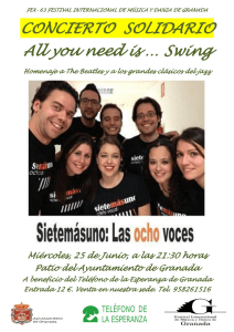 CONCIERTO SOLIDARIO All you need is … Swing