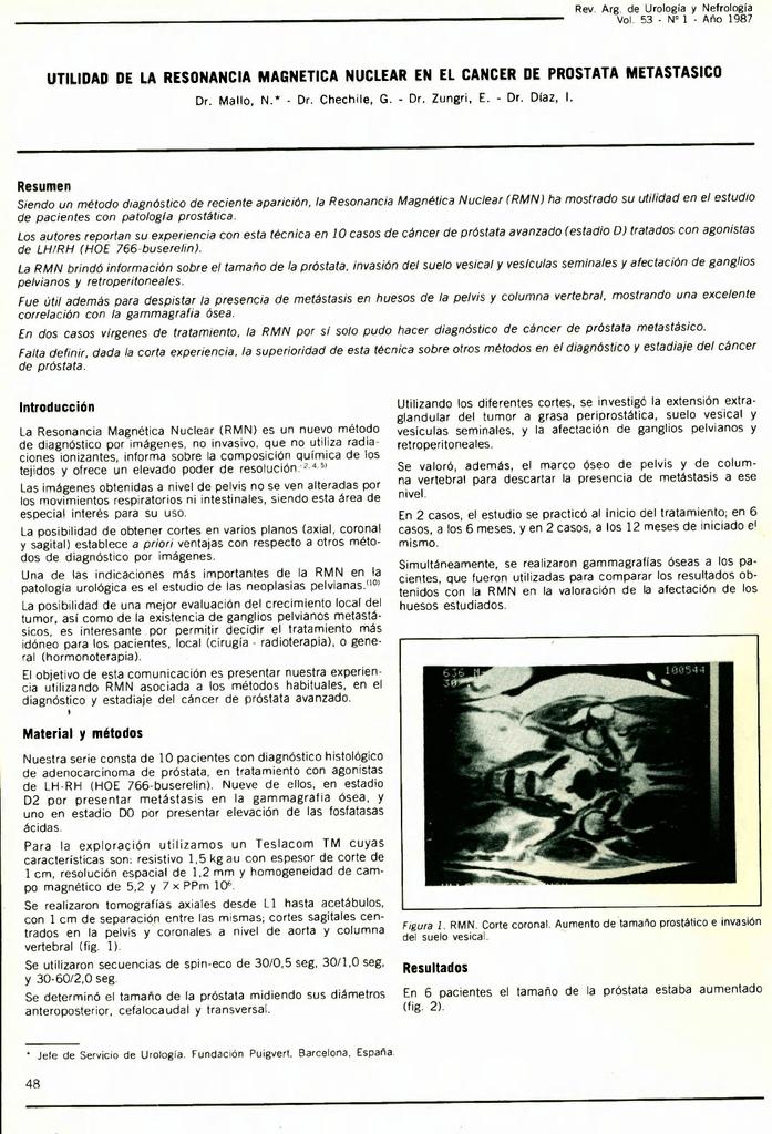 imágenes axiales del espacio de resonancia magnética para próstata