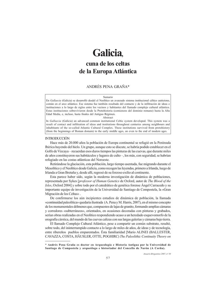 galicia, cuna de los celtas de la europa atlántica