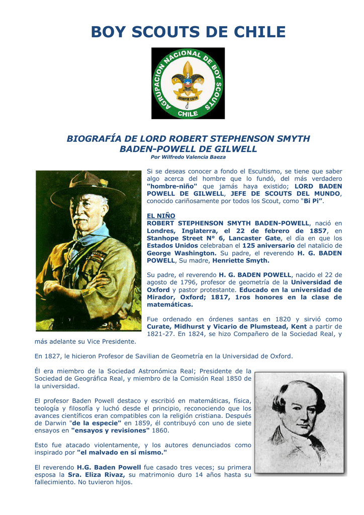 Historia De Baden Powell Pro Wilfredo Valencia