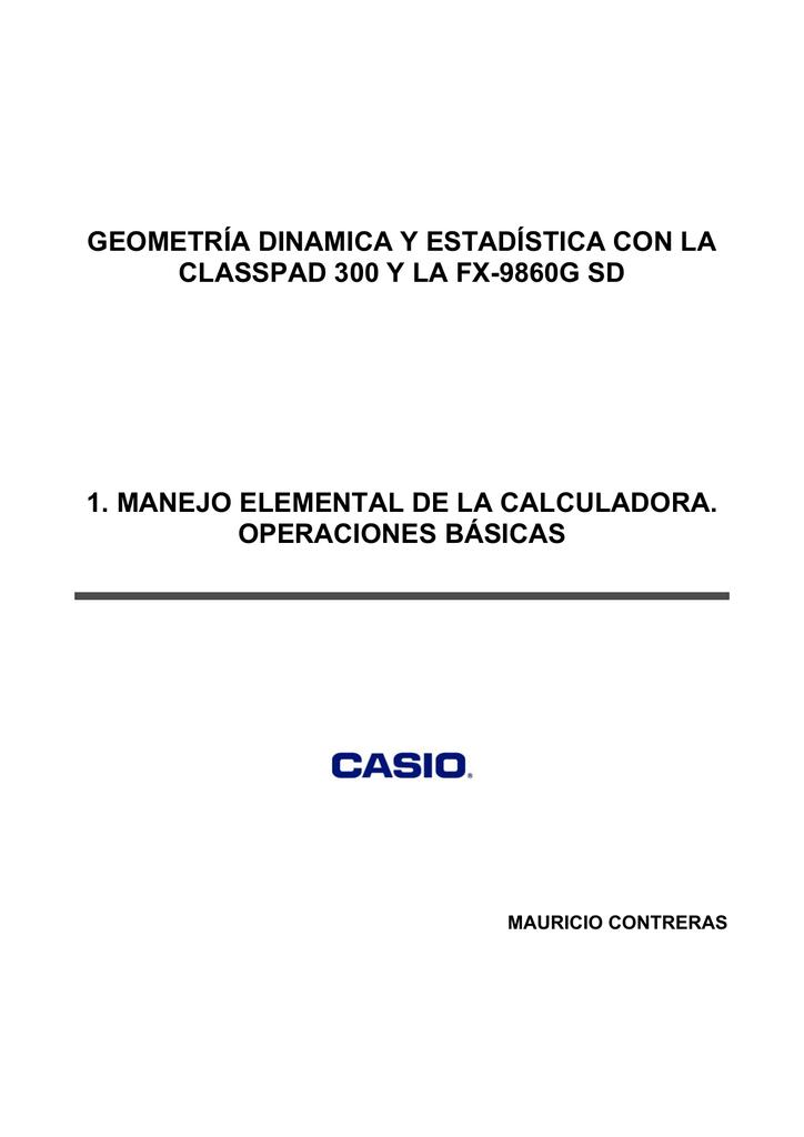 geometría dinamica y estadística con la classpad 300 y la