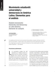 Movimiento estudiantil: universidad y democracia en América Latina