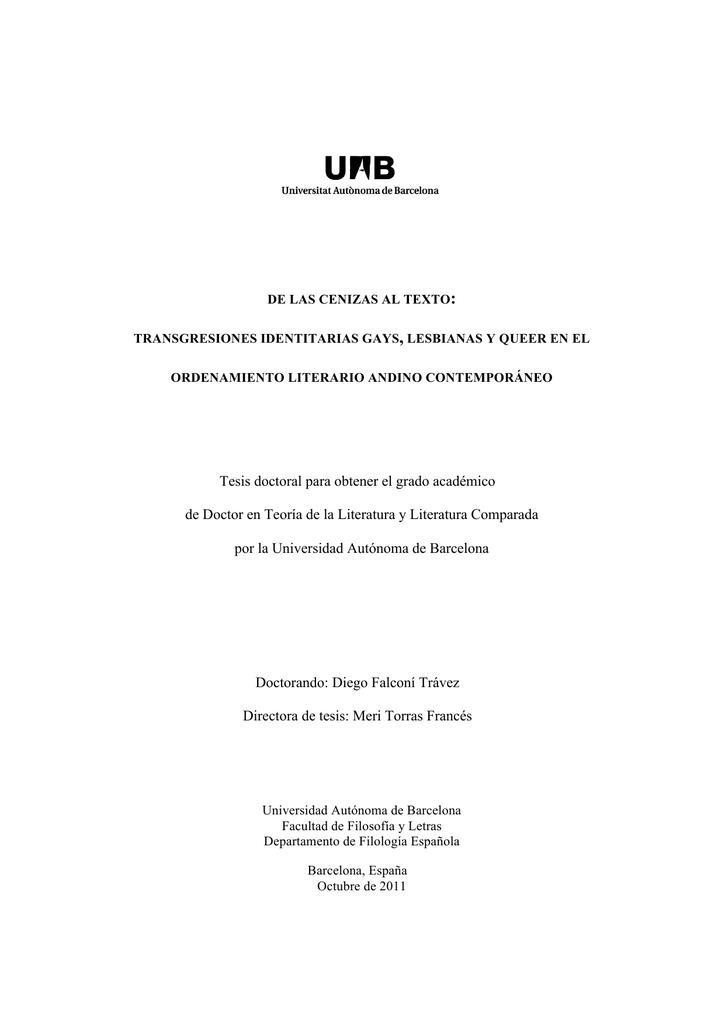 Tesis doctoral para obtener el grado académico de Doctor en