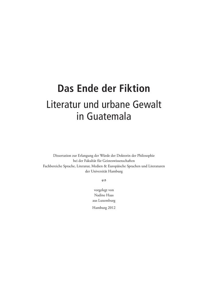 Dokument 1 E Dissertationen Der Universität Hamburg