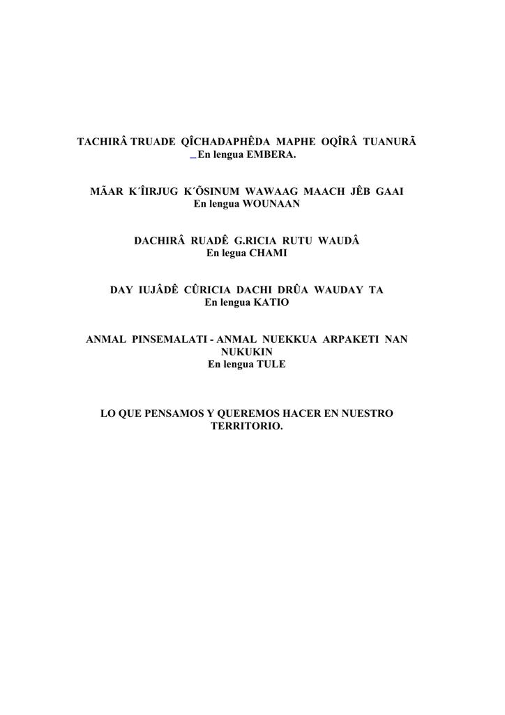 bb2d9f8aaa66 Orewa - Plan de Vida - Observatorio Étnico Cecoin
