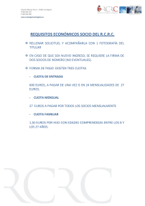 REQUISITOS ECONÓMICOS SOCIO DEL R.C.R.C.