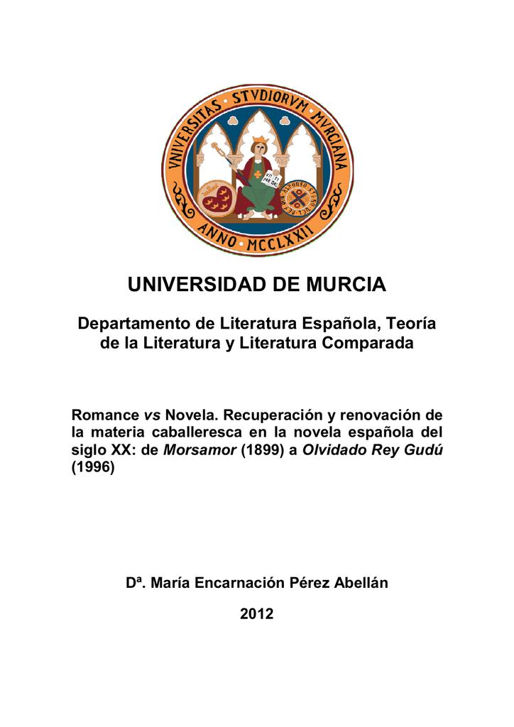 Mª Encarna Pérez Romance Vs Novela Recuperación Y Renovación