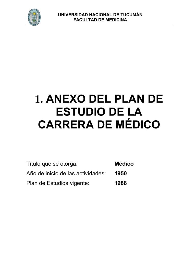Anexo I - Plan de Es.. - Facultad de Medicina