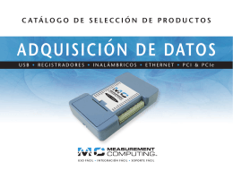 Measurement Computing Data Acquisition Product Selection Catalog