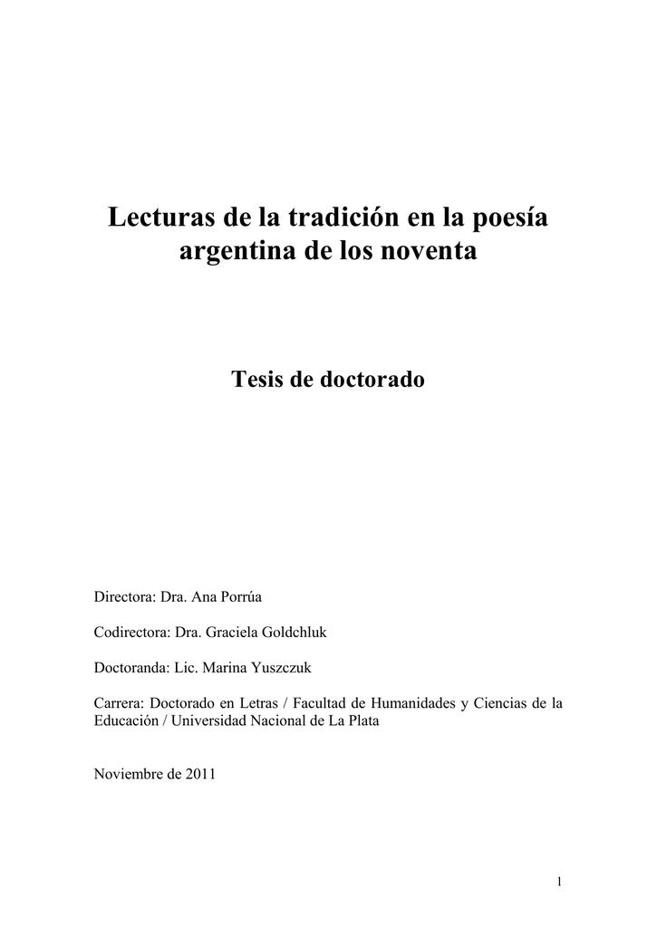 fa261525f Lecturas de la tradicion en la poesia argentina de los noventa