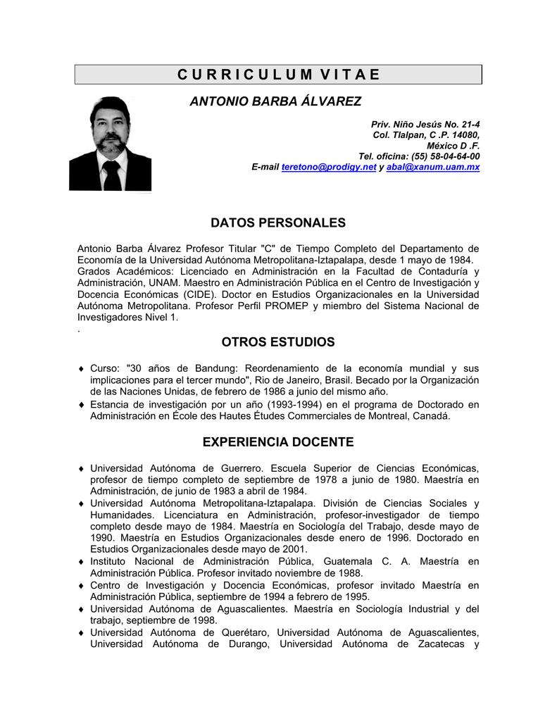 Único El Lugar Del Curriculum Vitae Federal Imágenes - Ejemplo De ...