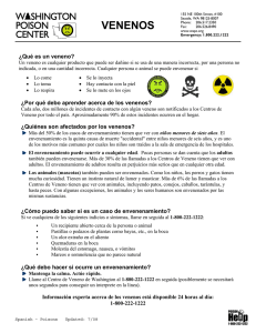 Venenos Poisons Fact Sheet