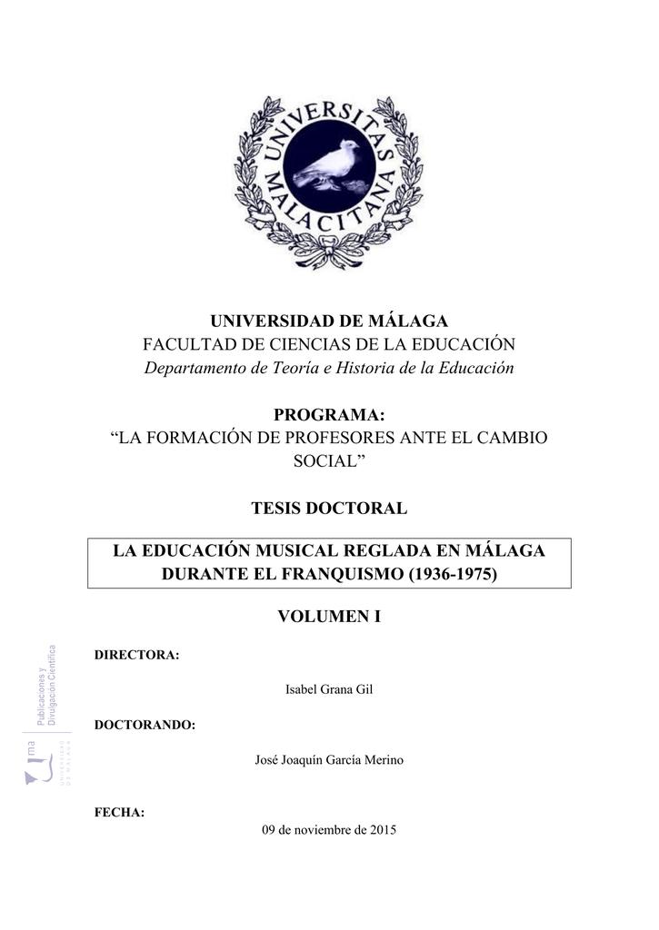 La Educación Musical Reglada en Málaga durante el Franquismo