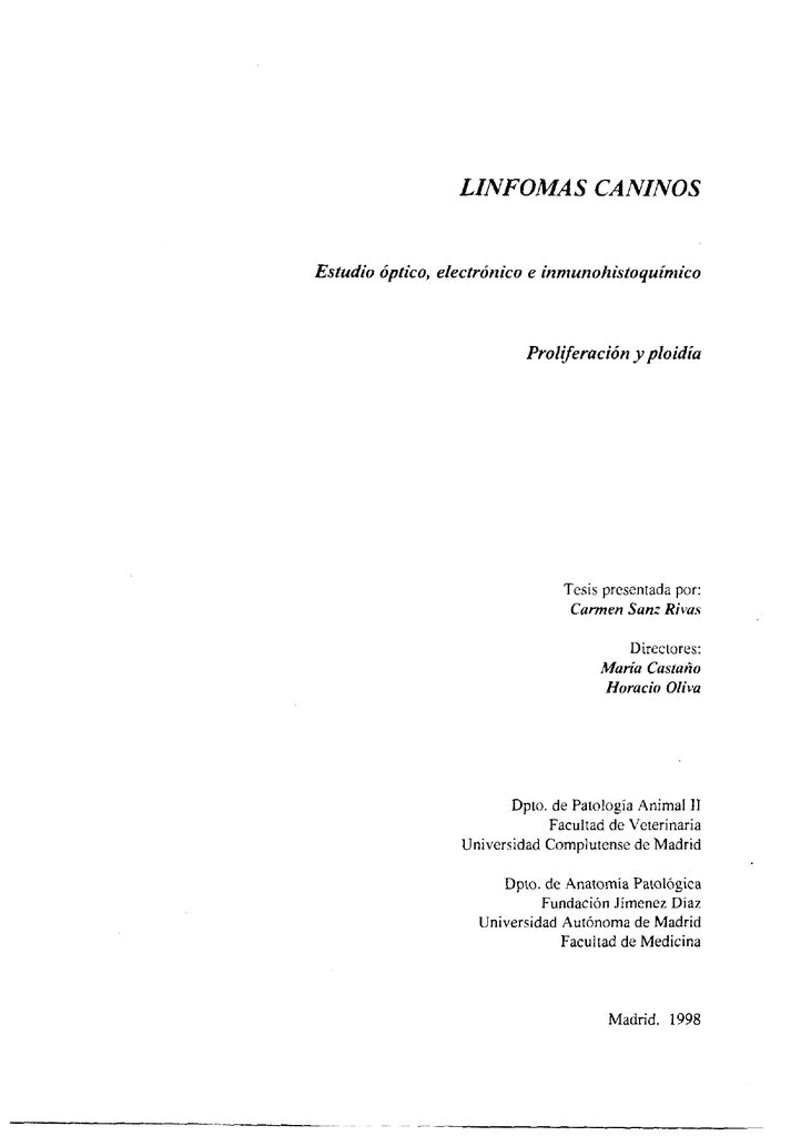 linfomas caninos - Biblioteca Complutense