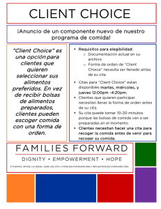 client choice - Families Forward