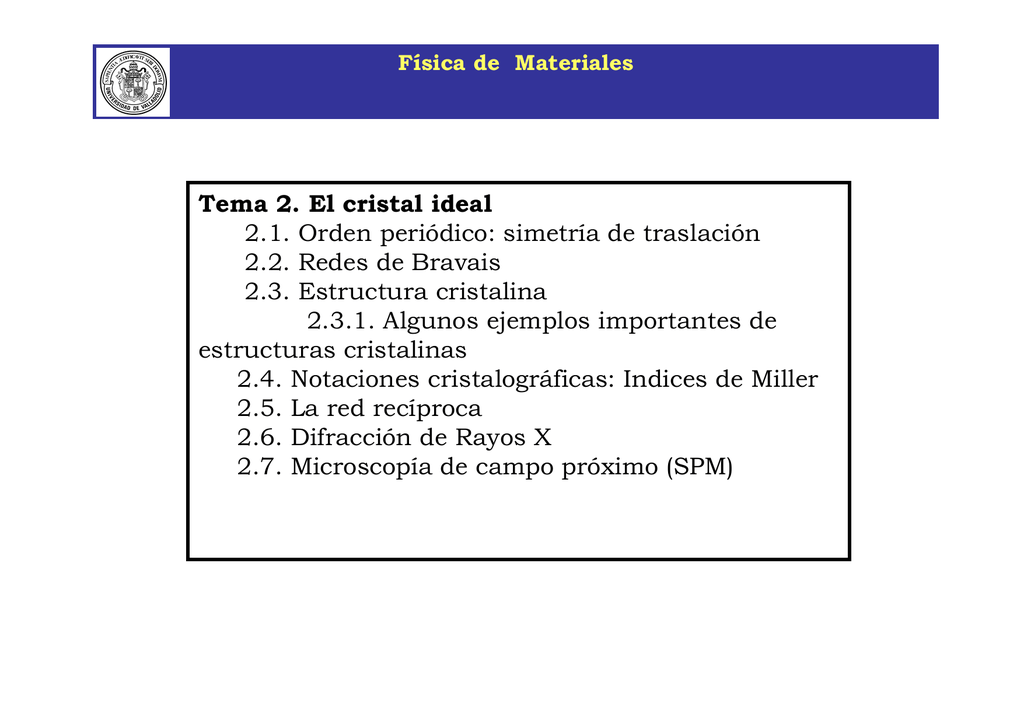 Física De Materiales