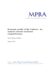 Economic profile of Eje Cafetero. An analysis towards territorial