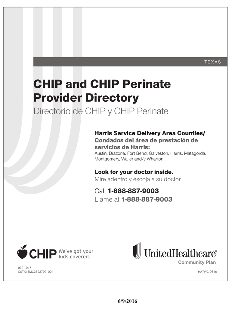 CHIP and CHIP Perinate Provider Directory