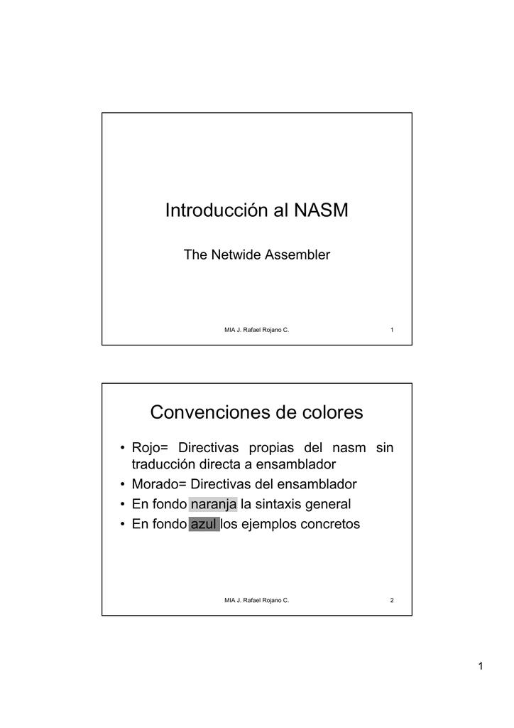 Introducción al Nasm