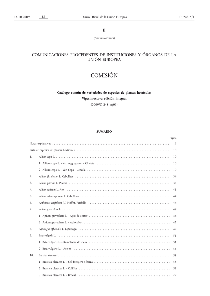 Catálogo común de variedades de especies de plantas hortícolas a7fc14158b5