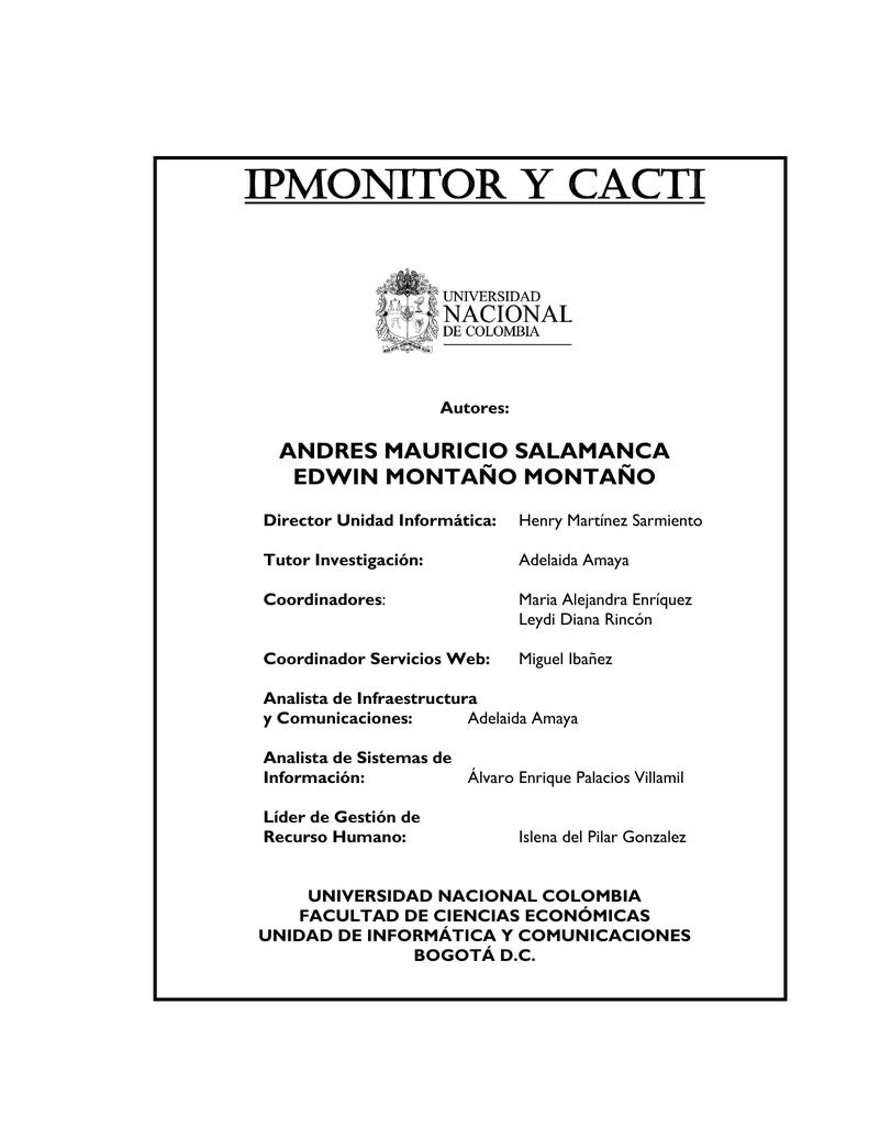 IPMONITOR y CACTI - Facultad de Ciencias Económicas