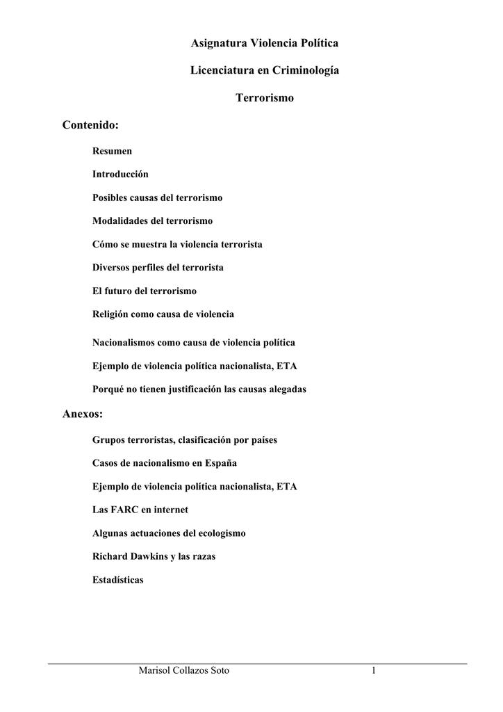 Violencia Política Marisol Collazos Soto