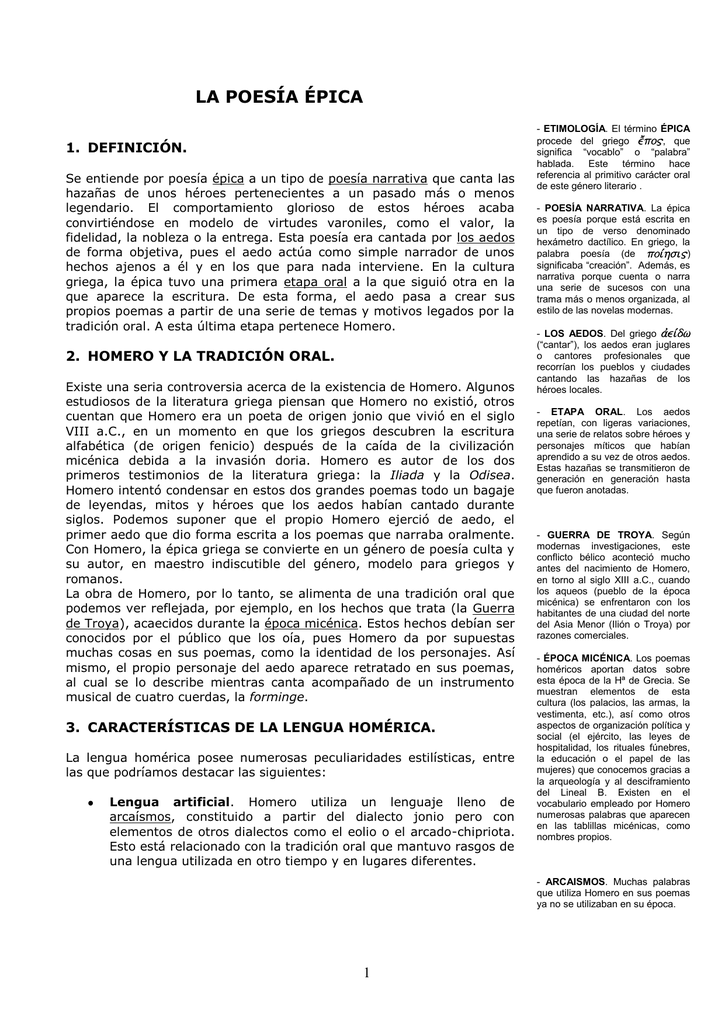 La Poesía épica Gobierno De Canarias