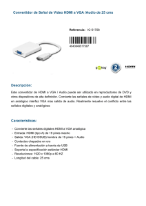 Convertidor de Señal de Video HDMI a VGA /Audio
