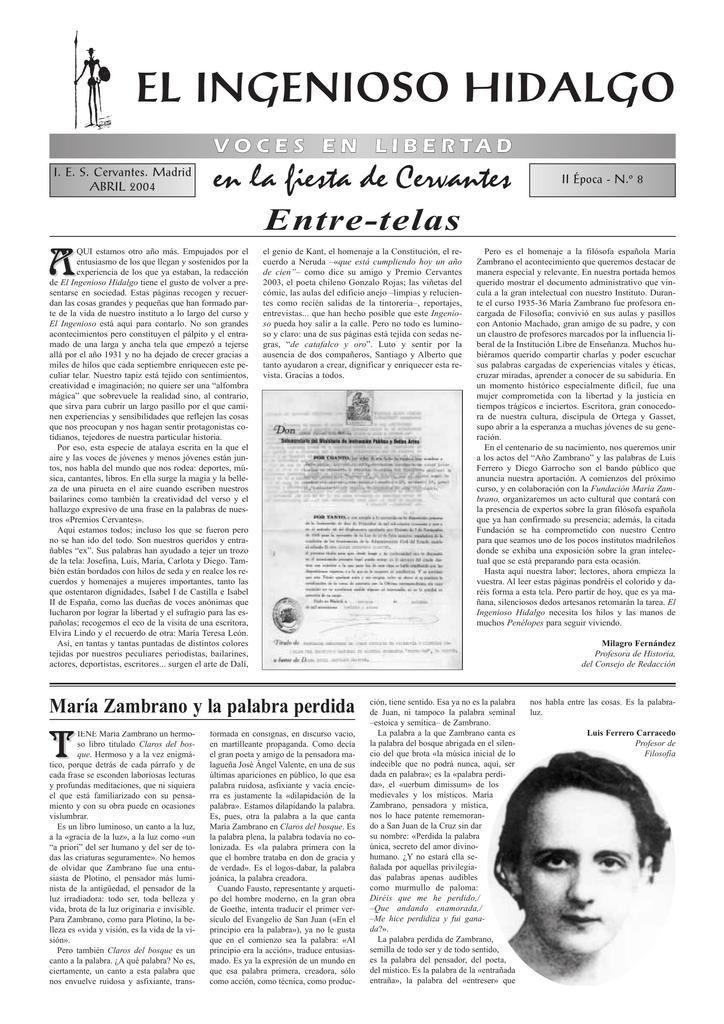 El Ingenioso Hidalgo Ies Cervantes