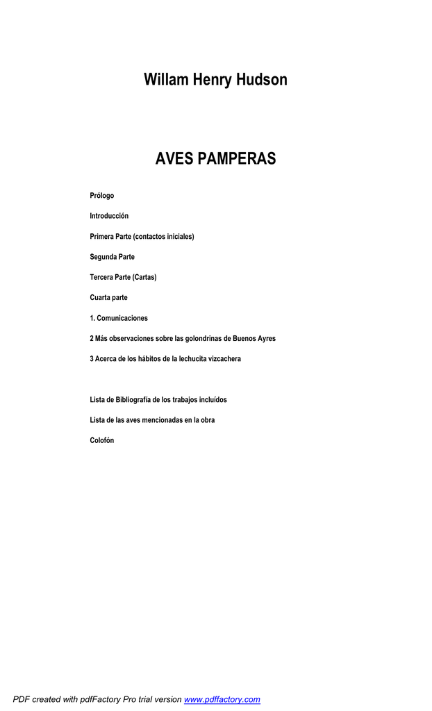 Aves pamperas - Folklore Tradiciones